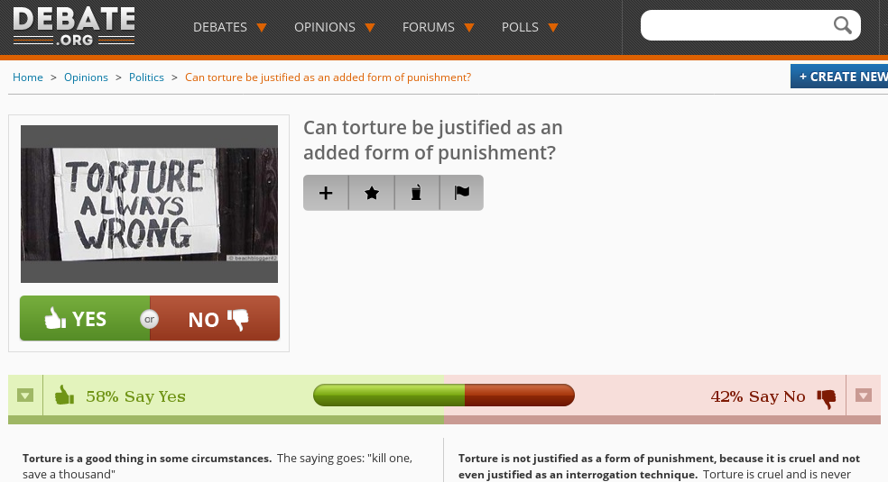 Can torture be justified as an added form of punishment